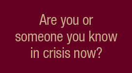 are you in crisis banner