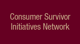 consumer survivor initiatives network banner
